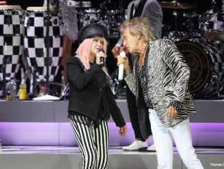 Cyndi Lauper and Sir Rod Stewart